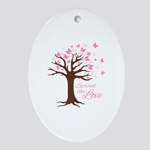 Spread Love Oval Ornament