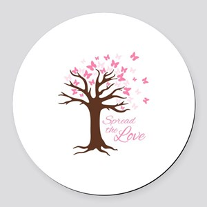 Spread Love Round Car Magnet