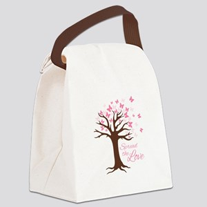 Spread Love Canvas Lunch Bag