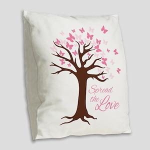 Spread Love Burlap Throw Pillow