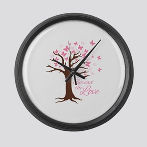 Spread Love Large Wall Clock