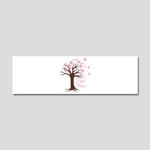 Find Peace Car Magnet 10 x 3