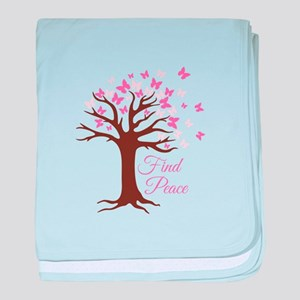 Find Peace baby blanket