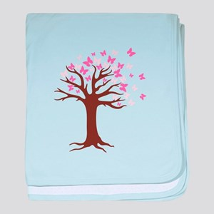 Butterfly Hope Tree baby blanket