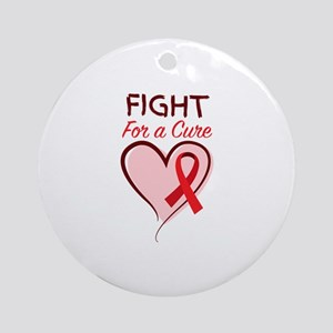 Fight For Cure Round Ornament