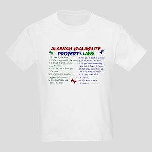 Alaskan Malamute Property Laws 2 Kids Light T-Shir