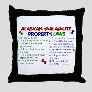 Alaskan Malamute Property Laws 2 Throw Pillow