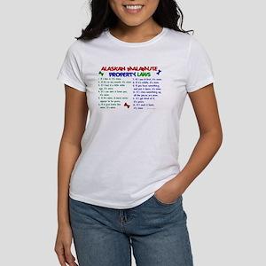 Alaskan Malamute Property Laws 2 Women's T-Shirt