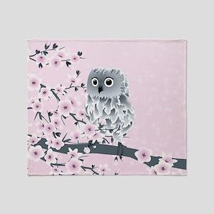 Cute Owl Girls Throw Blanket
