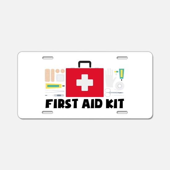 First Aid Kit Aluminum License Plate