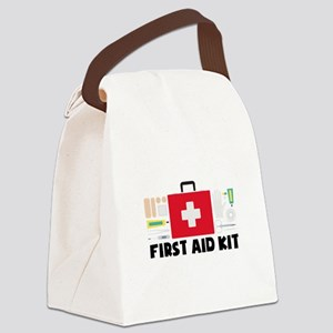 First Aid Kit Canvas Lunch Bag