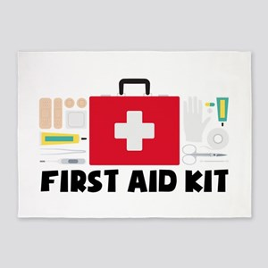 First Aid Kit 5'x7'Area Rug