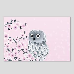 Cute Owl Girls Postcards (Package of 8)