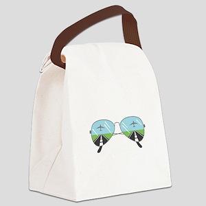 Aviator Sunglasses Canvas Lunch Bag