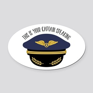 Your Captain Oval Car Magnet