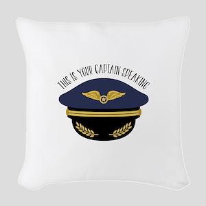 Your Captain Woven Throw Pillow