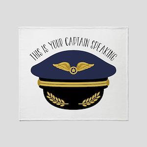 Your Captain Throw Blanket