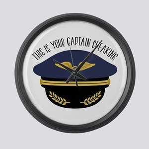 Your Captain Large Wall Clock