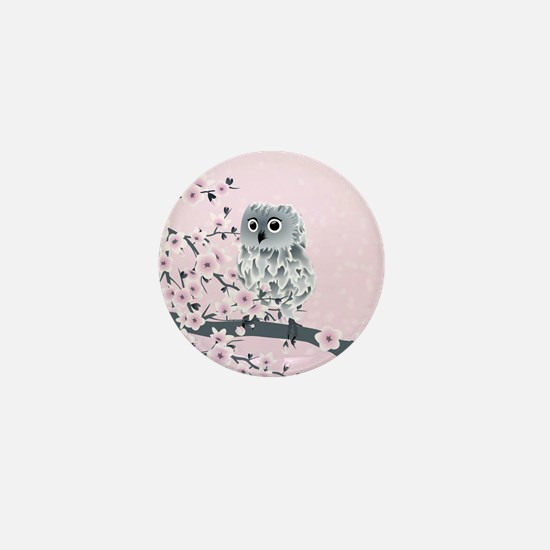 Cute Owl Girls Mini Button
