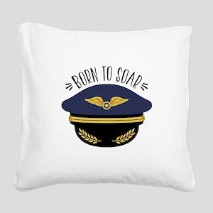 Born To Soar Square Canvas Pillow
