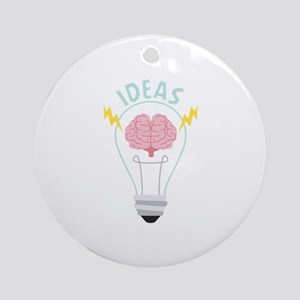 Light Bulb Ideas Round Ornament