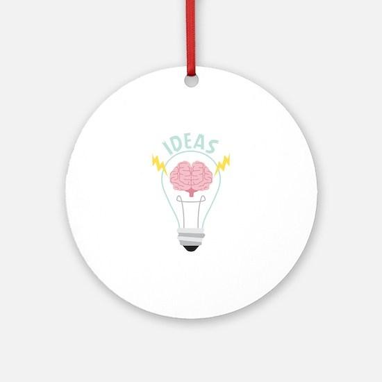 Light Bulb Ideas Round Ornament