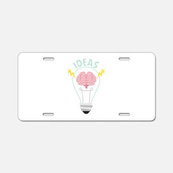 Light Bulb Ideas Aluminum License Plate