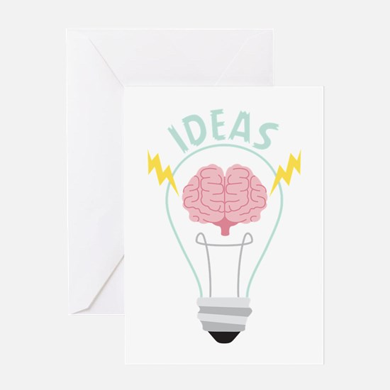 Light Bulb Ideas Greeting Cards