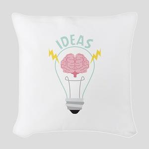 Light Bulb Ideas Woven Throw Pillow