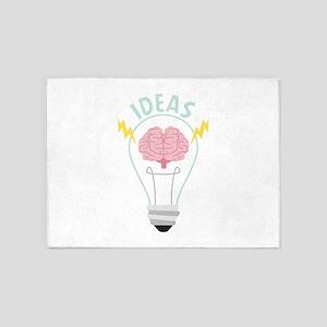 Light Bulb Ideas 5'x7'Area Rug
