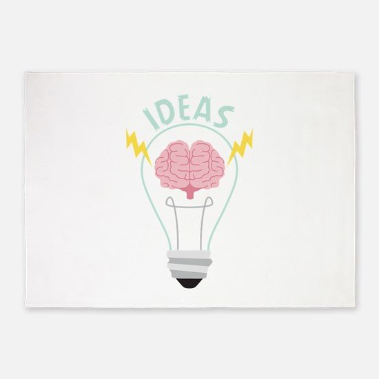 Light Bulb Ideas 5'x7'Area Rug