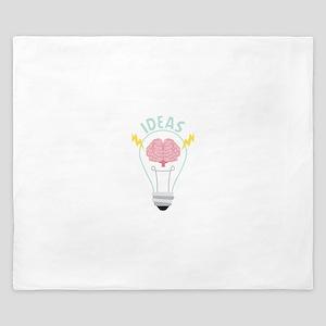 Light Bulb Ideas King Duvet
