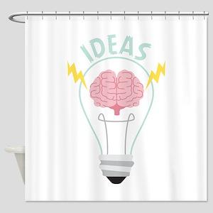 Light Bulb Ideas Shower Curtain