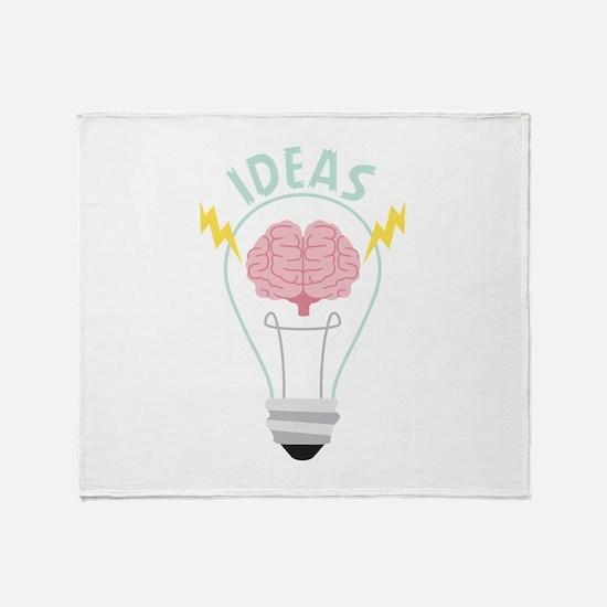 Light Bulb Ideas Throw Blanket