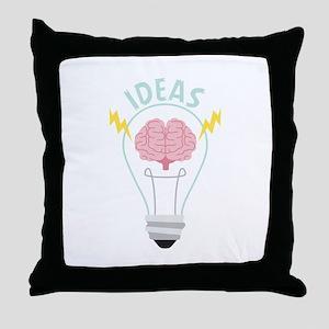 Light Bulb Ideas Throw Pillow