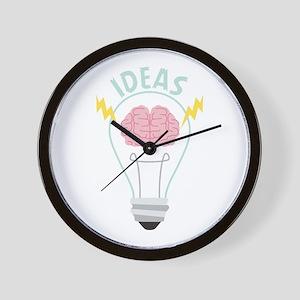 Light Bulb Ideas Wall Clock
