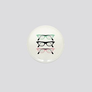 Retro Glasses Mini Button