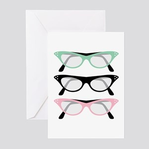 Retro Glasses Greeting Cards