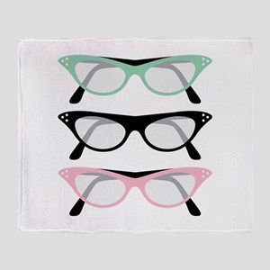 Retro Glasses Throw Blanket