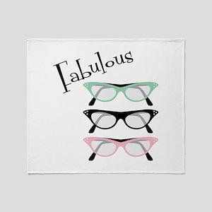 Fabulous Glasses Throw Blanket