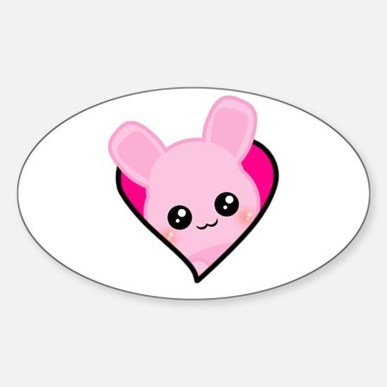 Usagi Love Oval Decal