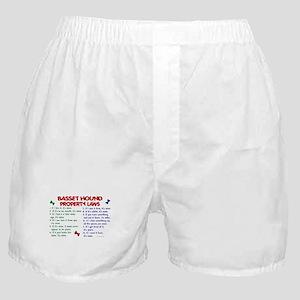 Basset Hound Property Laws 2 Boxer Shorts