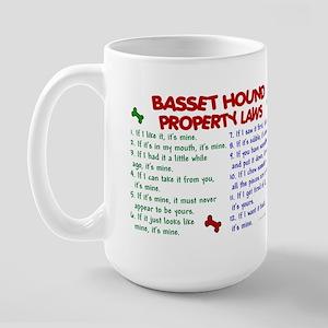 Basset Hound Property Laws 2 Large Mug
