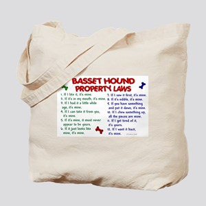 Basset Hound Property Laws 2 Tote Bag