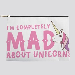 I'm completely MAD about unicorns Makeup Bag