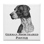 German Shorthair Pointer Dog Breed Tile Coaster