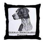 German Shorthair Pointer Dog Breed Throw Pillow