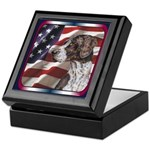 German Shorthair Pointer USA Flag Keepsake Box