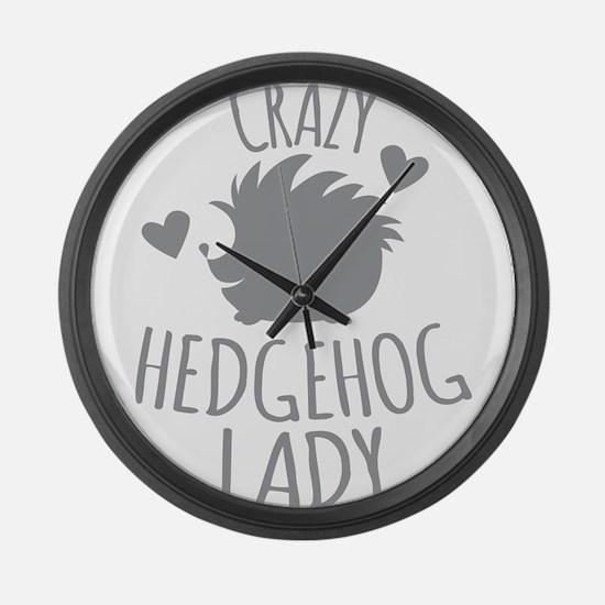 Crazy Hedgehog Lady Large Wall Clock