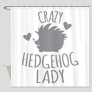 Crazy Hedgehog Lady Shower Curtain
